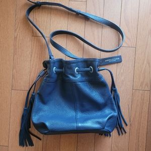 American Eagle Leather Bucket Bag (Blue)